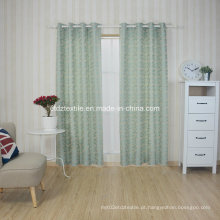 100% poluente fio de encolhimento jacquard cortina tecido em poço drapeja