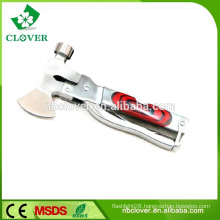 High quality stainless steel multi function tool with hammer and hatchet