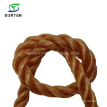 Wearable 3 Strand Brown Twisted/Twist White PP/Polypropylene Splitfilm/Split Film Rope for Agriculture Packing