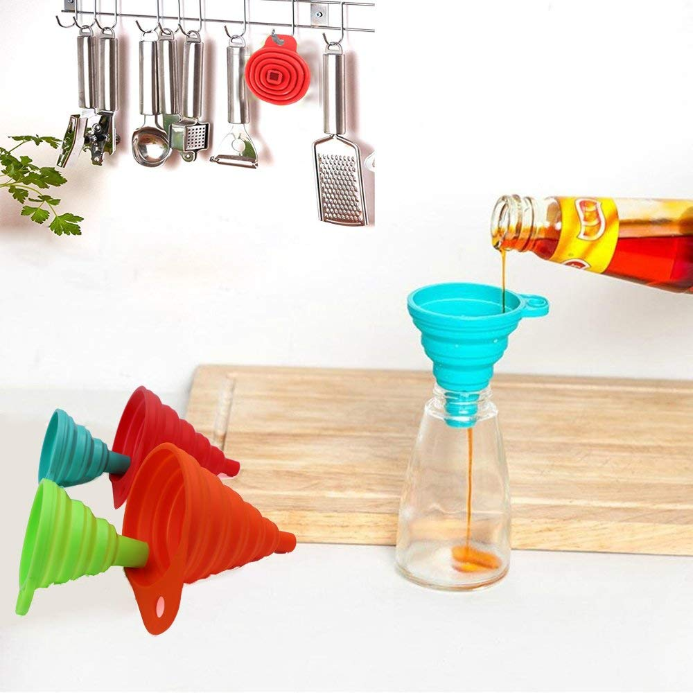 Collapsible Cooking Silicone Funnel