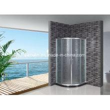 Puerta de cristal ácida de la ducha con la barra negra del agua (AS-904)
