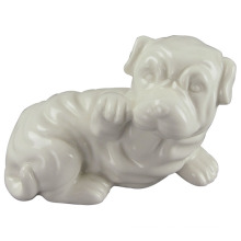 Animal Shaped Keramik Handwerk, Lovely Dog mit weißen Glasur