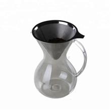 Cafeteira de vidro mão pingadeira com alça
