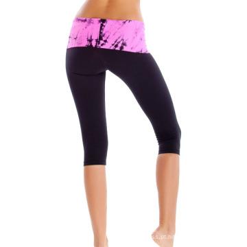 Calças da ioga da aptidão por atacado, calças coloridas feitas sob encomenda da ioga