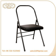 QTZD-001 wholesale cheap black metal folding yoga chair
