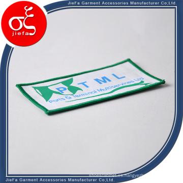 Remiendos tejidos de alta calidad del borde de Merrow de encargo