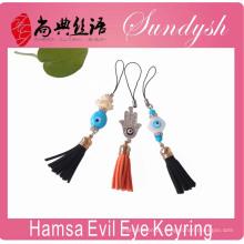 Hamsa Evil Eye Chaveiro Borla Mal Eye Key Charme Acessório Melhor Chaveiro