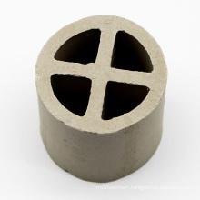Industrial ceramic tower packing ring filter media 50mm 80mm 100mm 120mm ceramic cross partition ring