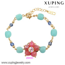 74587 Xuping nuevo diseñado encanto pulsera de oro de las mujeres
