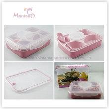 Geschirr 4 Fach Lebensmittelqualität Kunststoff Mikrowelle Lunch Box
