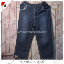 No.5 embroidered black fashion handsome children jeans