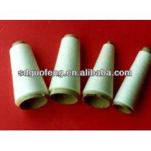 40s / 2 fil blanc 100% polyester filé cru pour le fil à coudre