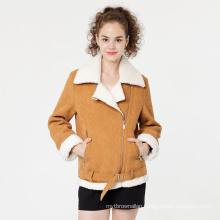 Fashionable Women Corduroy Shorts Coat