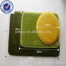 nuevo diseño de espuma de memoria 3 piezas juegos de alfombras de baño