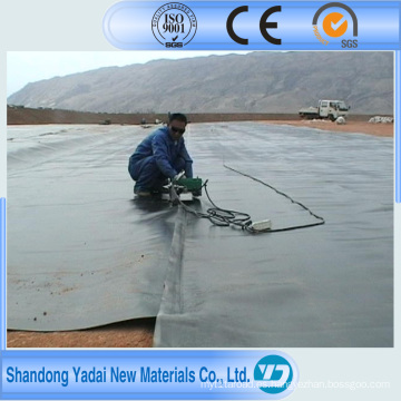 Hoja de plástico HDPE negro Hoja de revestimiento de geomembrana / revestimiento de geomembrana de LDPE y revestimiento de estanque