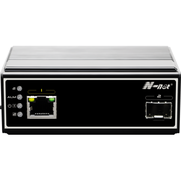 Media converter PoE industriale a 2 porte full gigabit