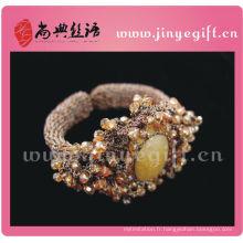Guangzhou dernières élégantes Victoria Gemstone Crystal Crochet bijoux
