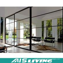 Armoires de meubles de chambre à coucher de mélamine de portes de miroir coulissantes (AIS-W315)