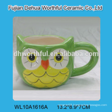 Creative owl design ceramic water cup for drinkware