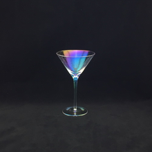 Plating Colourful Martini Glass with Bubble