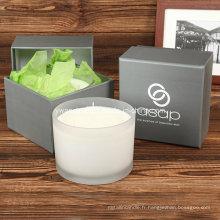 3 bougies de massage de cire de soja organique d'Aromatherapy Skincare
