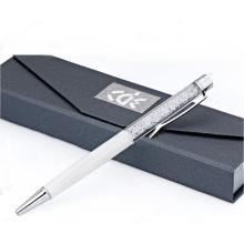 Красивая красочные Кристалл металлическая шариковая ручка с подарочной коробке
