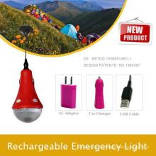 Lámpara con energía solar práctico bombilla led con el cargador del teléfono, kit de iluminación solar del hogar