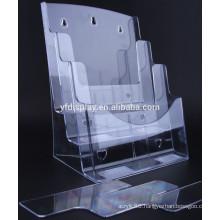 4 Tiers Acrylic Clear File Folder Holder