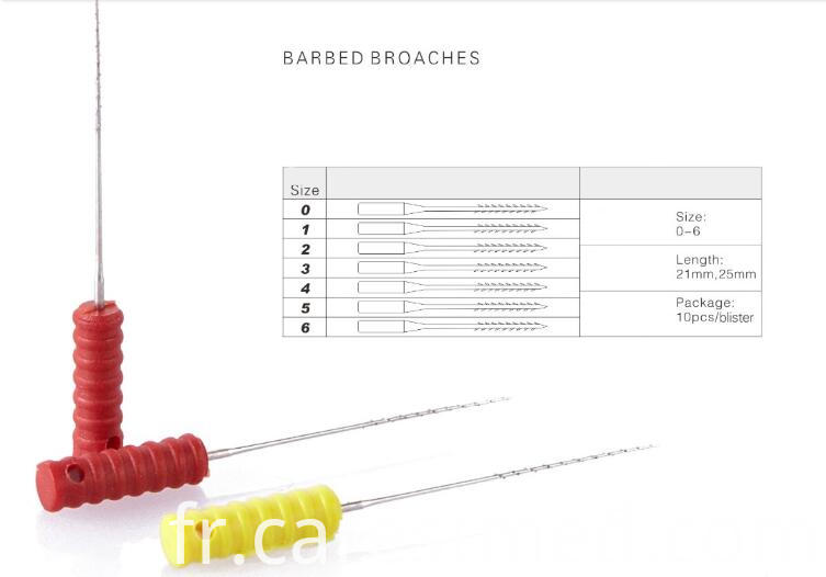 barbed broaches