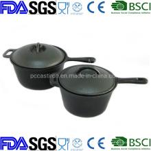 Preseasoned Nonstick Csat Iron Saucepan Milk Pot for Outdoor Camping