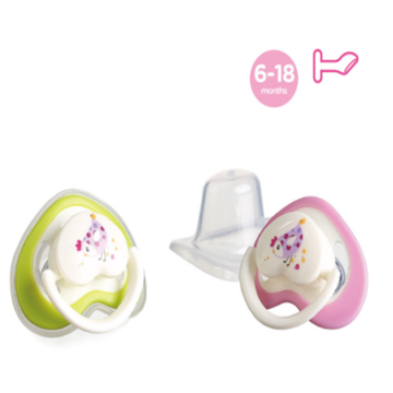 Safety Flat Heart Shape Dot Silicone Bayi