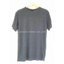 T-shirt orgânicos do algodão do cânhamo dos homens e das mulheres (HG-BN-25)