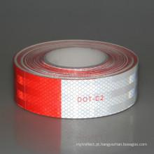 Etiqueta branca vermelha da fita reflexiva quente da venda para o caminhão