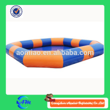 orange and blue color inflatable swimming pool large inflatable pool for sale