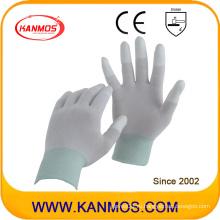 Антистатические нейлоновые трикотажные ПУ окунутые в рабочую одежду рабочие перчатки безопасности (54001)