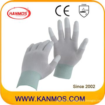 Gants de travail anti-statique en nylon tricotés en plastique (54001)