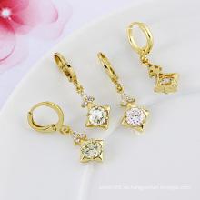 Xuping marca de fábrica de la marca de fábrica 14k oro elegante pendiente elegante de la manera del zircon (22783)