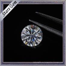 Wuzhou alta calidad de gran tamaño Moissante Loost Stone en 8 corazones y 8 flechas de corte