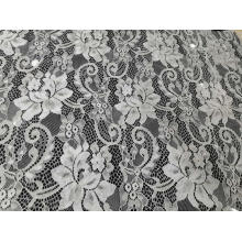 Tecido de nylon popular do laço do teste padrão de flor