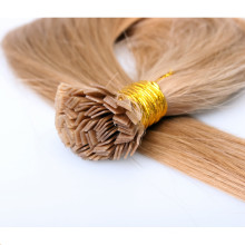 Factory wholesale 100% keratin tip human hair extension best selling flat tip hair for reseller