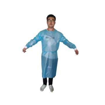 Robe d'isolement non tissée jetable PP + PE
