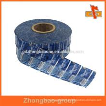 Amostras grátis personalizadas pvc shrink wrap rótulos com impressão em rolos