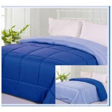 Cor sólida reversível moderno 2 cor cama queen size edredom