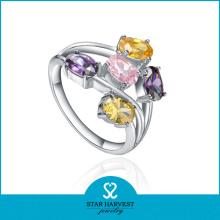 Vente en gros anneau en pierre d'argent 925