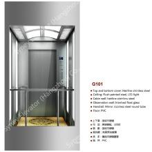 Ascenseur panoramique en verre carré pour visites touristiques (G101)
