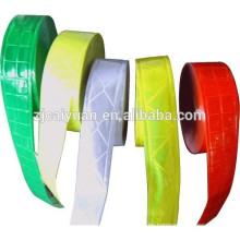 Diferentes colores PVC reflectante cinta coser ropa gorras etcetera