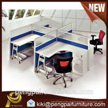 Four seater standard wood office workstation with low price
