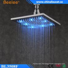 Neues Badezimmer Square Messing 10 '' Wasserfall LED Licht Duschkopf