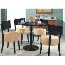 Modern wooden restaurant chair and round table set XYN1311