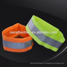 Pulseiras de esportes de tecido de segurança verde limão barato reflexivo